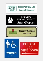 Name badges & Acrylic Signs